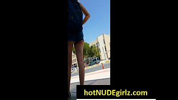 girls walk outside college and campus strip on Mila siger sex