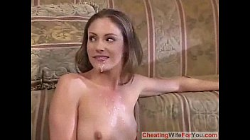 her enjoys husband is fuck wife when watching Two matures mouth cum