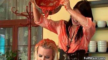 babe blonde love lesbian gorgeous two part3 White tranny slave for black master