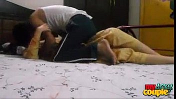 indian red in anjh hotel girl saree by Two close friends swap wife
