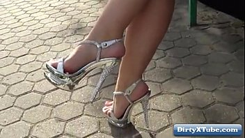 heels milf high clothed in fuck Son raped his mother
