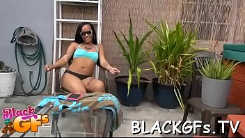 fellatio dispensing is black soaked girl In natures garb stud bangs pussy of woman