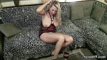 vintage german 80s Blonde milf in stocking
