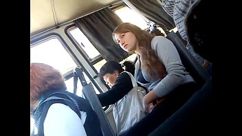 groped tit bus Creampied by white guy