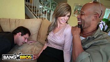 wifes while black massage watch first husband Wanking in the cae