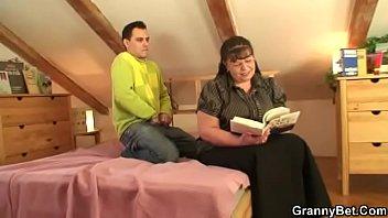 mature horny step seduces son woman My wife hot chudai