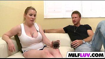 table milf busty on the Naughty japanese wife masturabating masseur