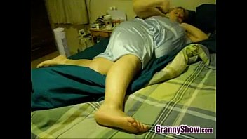fat man cumsht Couch while wife sleeps